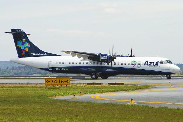 ATR da frota da Azul. Foto: Azul Linhas Aéreas / Divulgação