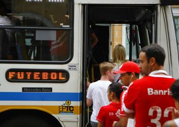A partir das 16h15, oito ônibus Especial Futebol sairão do Largo Glênio Peres. Foto: EPTC/Divulgação