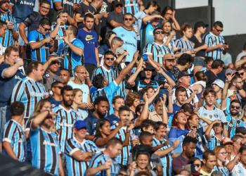 Torcida gremista no no estádio São Januário. Foto: Lucas Uebel/Divulgação