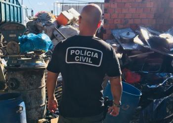 A ação fez parte da Operação Metal. Foto: Divulgação/Polícia Civil