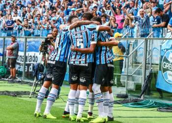 O Grêmio volta a campo na próxima quarta-feira, às 21h45min, para enfrentar o Flamengo no Maracanã. Foto: Lucas Uebel/Divulgação