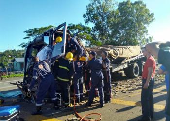Acidente ocorreu no entroncamento com a BR-386. na manhã desta sexta-feira (9) FOTO: Reprodução