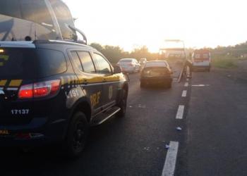 Acidente ocorreu na altura do km 433 da BR-386 (Foto: PRF / Divulgação)