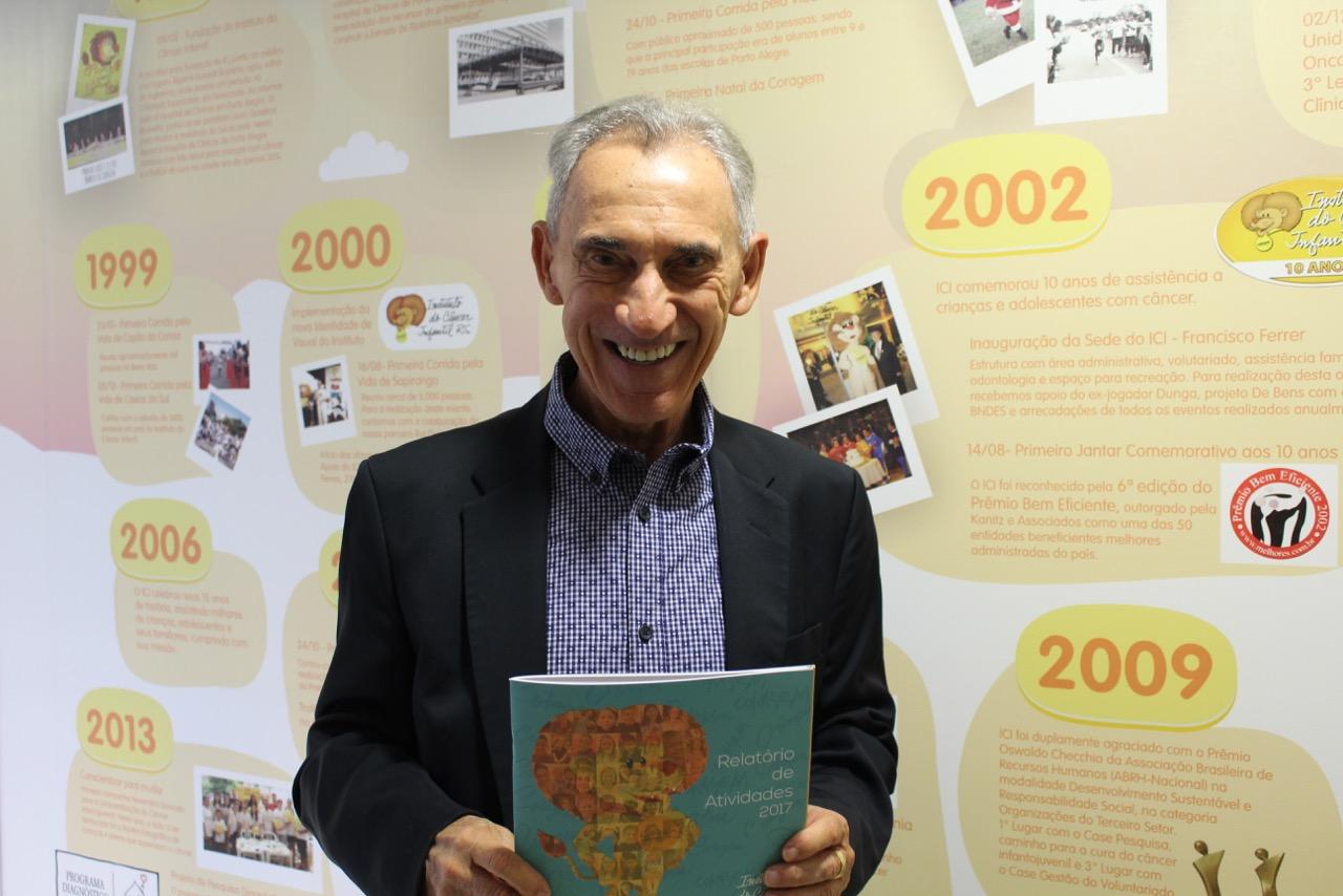 O jornalista Lauro Quadros é o presidente do Conselho de Administração do Instituto do Câncer Infantil. Foto: Divulgação/ICI
