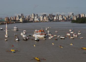 Festa e Procissão de Nossa Senhora dos Navegantes pelo Guaíba. Foto: Maria Ana Krack/PMPA