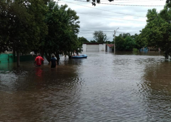 Alegrete, na Fronteira Oeste, é uma das cidades mais afetadas pelas chuvas dos últimos dias. Foto: Prefeitura de Alegrete/Divulgação