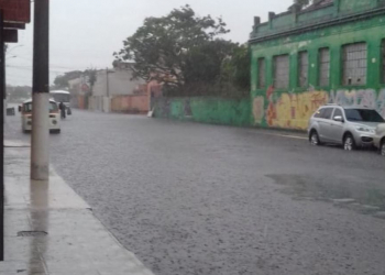 Um dos pontos de alagamento em Pelotas. Crédito: Divulgação