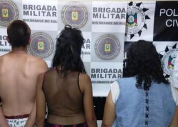 Presos em flagrante por tráfico de entorpecentes. Foto: Divulgação/Polícia Civil