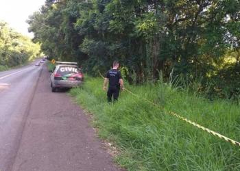 O corpo do caminhoneiro foi encontrado em avançado estado de decomposição. Foto: Polícia Civil de Santa Catarina/Divulgação