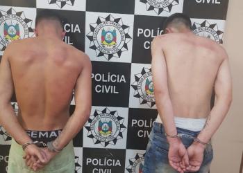 Os presos são suspeitos de integrar organização criminosa. Foto: Divulgação/Polícia Civil