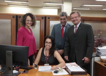 Os deputados estaduais Luciana Genro (PSOL), Luiz Fernando Mainardi (PT) e Sebastião Melo (MDB). Foto: Vanessa Vargas/Bancada do PT/ALRS