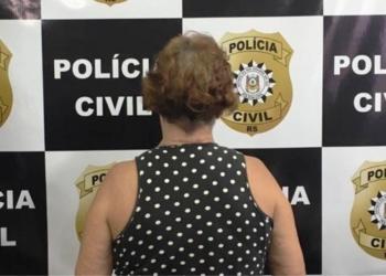 Idosa foi presa preventivamente no bairro Niterói. Foto: Polícia Civil/Divulgação