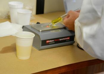 Exames foram realizados no laboratório móvel do Ministério Público. Foto: Divulgação/MPRS