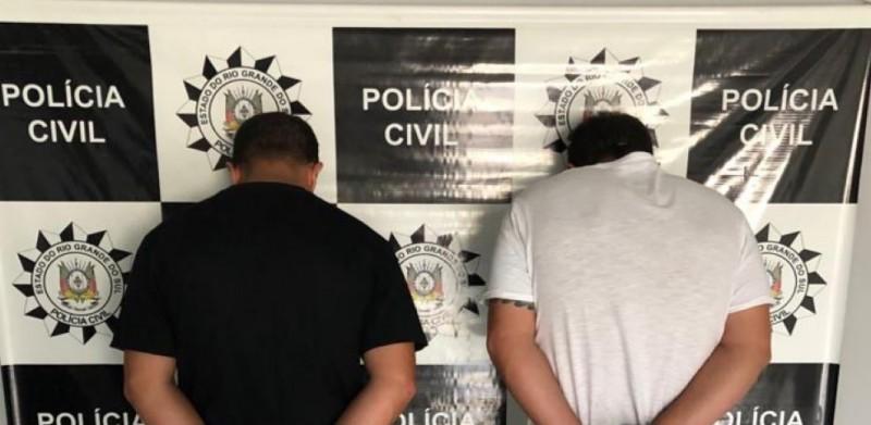 Os presos, após registro da ocorrência policial, foram encaminhados à Penitenciária Modulada Estadual de Osório. Foto: Divulgação/Polícia Civil
