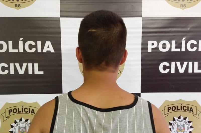 Preso não teve a identidade divulgada. Foto: Divulgação/Polícia Civil