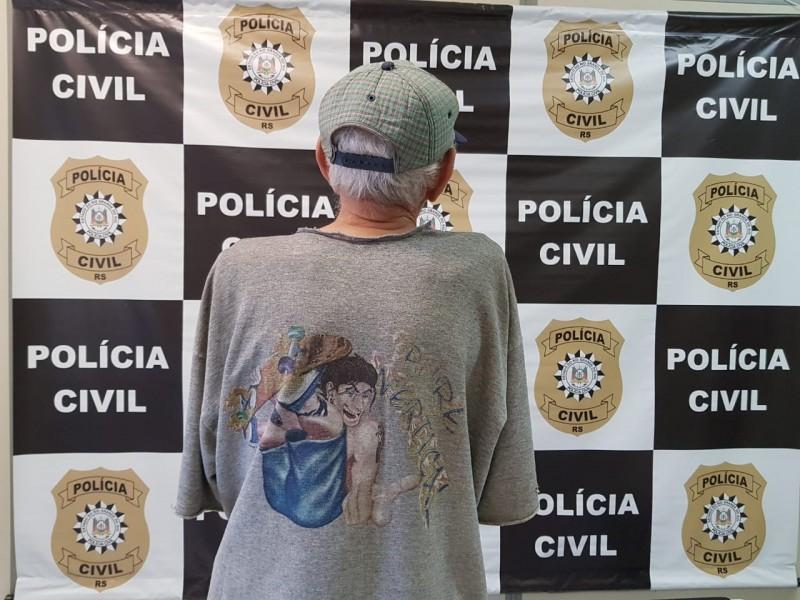 A identidade do idoso não foi divulgada. Foto: Divulgação/ Polícia Civil