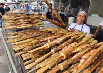 O propósito da festa é fomentar a cadeia produtiva da piscicultura. Foto: Eduardo Beleske/PMPA