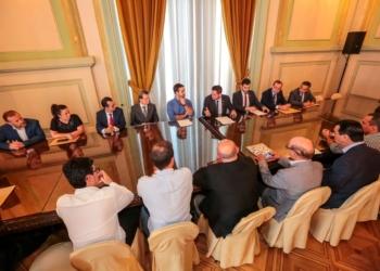 Encontro de empresas com o governador. Foto: Gustavo Mansur/Palácio Piratini