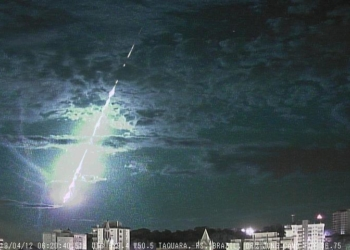 Meteoro se desintegrou na atmosfera a 36 quilômetros de altitude.  Foto: Divulgação/Bramon