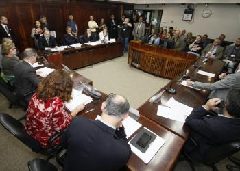 Reunião extraordinária na tarde desta quinta-feira.  Foto: Evandro Oliveira/Divulgação