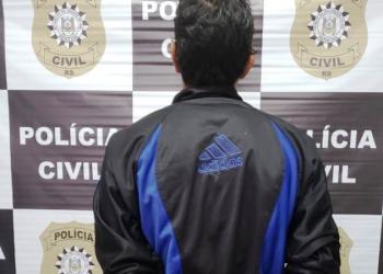 Homem não teve a identidade divulgada. Foto: Divulgação/Polícia Civil