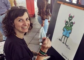 A cartunista Mauren Veras. Foto: Leandro Bierhals/Divulgação