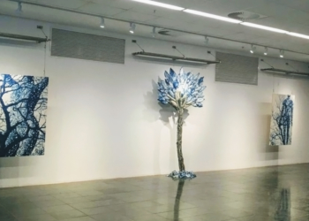 Exposição apresenta obras resultantes de especialização. Foto: Caroline Bertani/Universidade Feevale