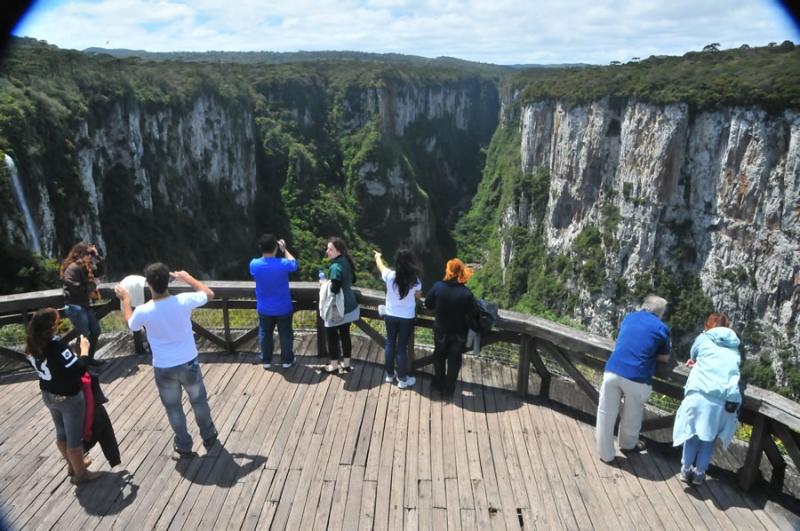 Imagem dos cânions de Cambará do Sul. Foto: Divulgação/prefeitura de Cambará do Sul