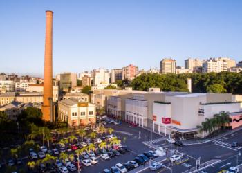 Vista aérea do Shopping Total. Foto: Emmanuel Denaui/Divulgação