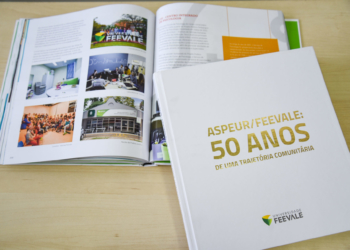 No evento, em NH, será entregue á comunidade o livro que conta toda a história da instituição. Foto: Nadine Funck/Universidade Feevale