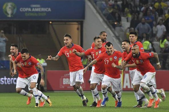 Chile passou de fase nos pênaltis. Foto: Reprodução/Instagram/Conmebol