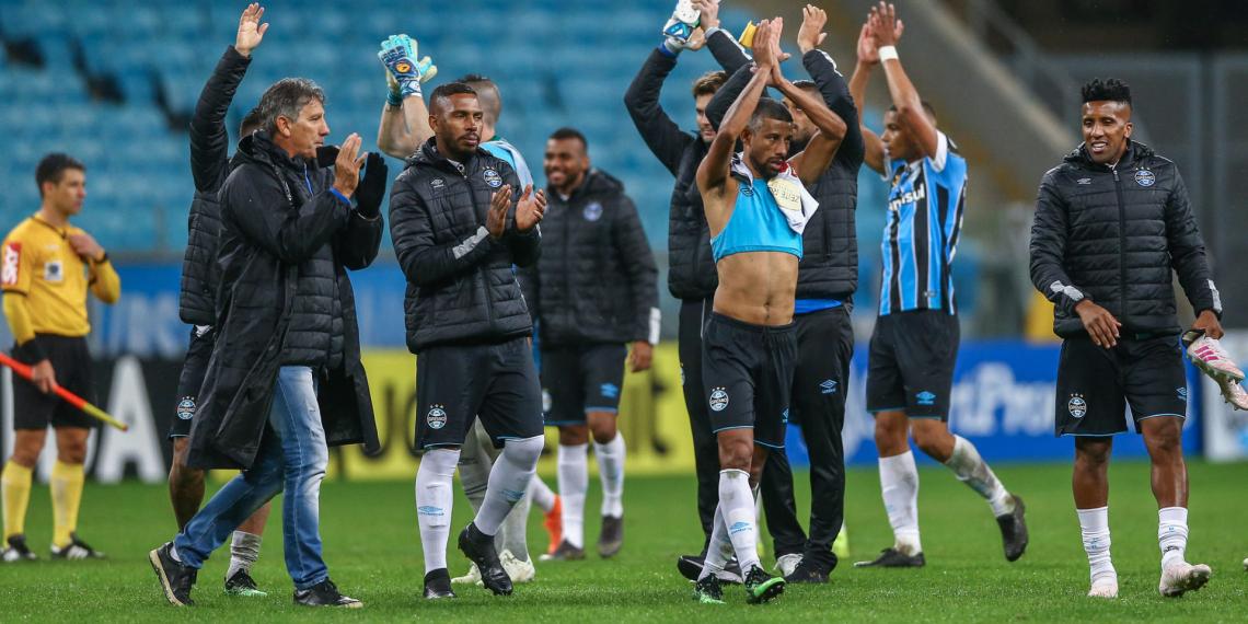 Com dois gols de Pepê, o Grêmio superou o time carioca por 2 a 1. Foto: Lucas Uebel/Divulgação