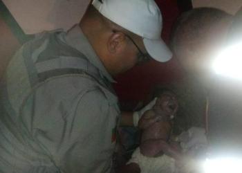João Pedro nasceu pelas mãos da Brigada Militar. Foto: Divulgação/BM