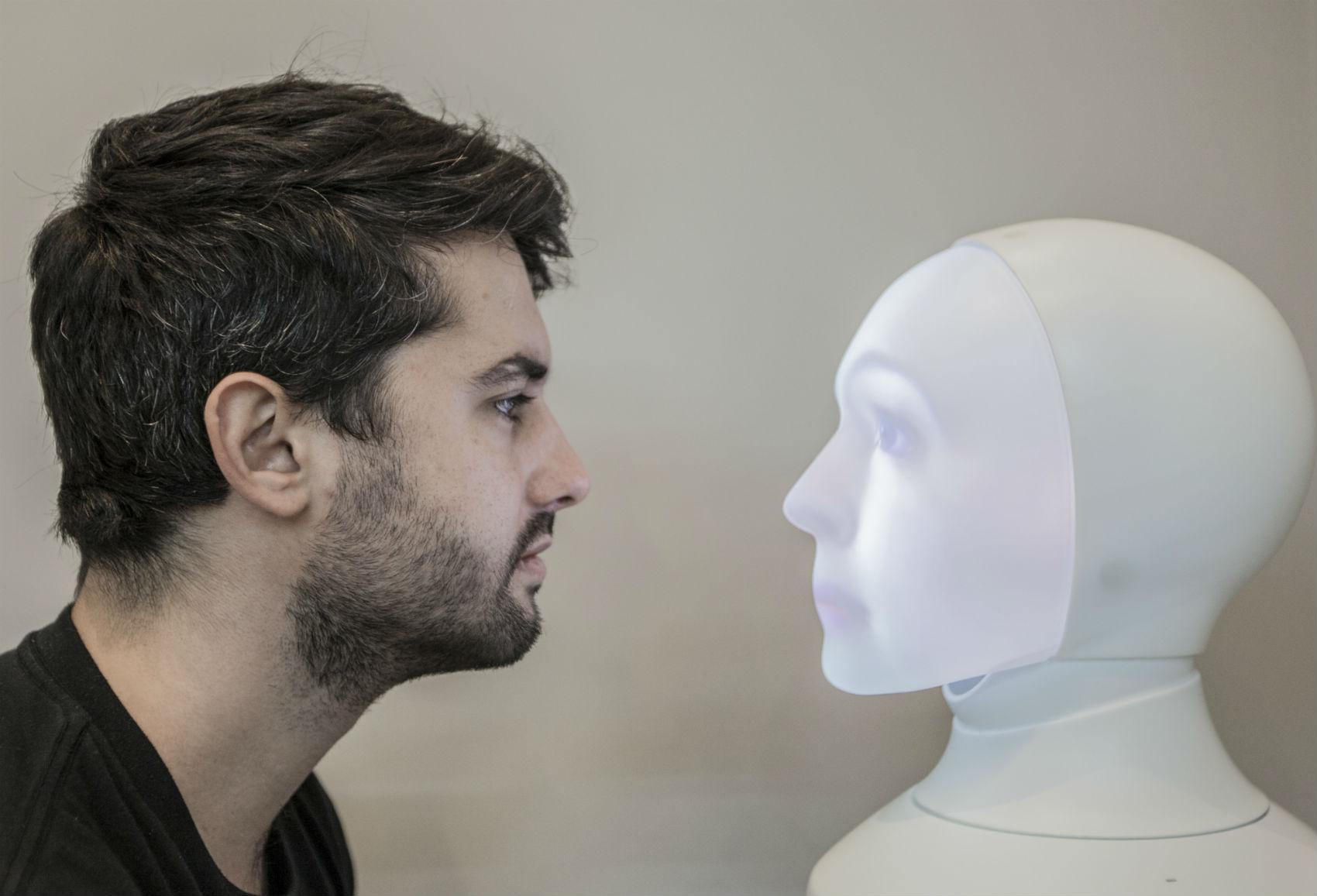 Apelidada de FAB, a robô mediará contação de histórias no BS Kids Festival. Foto: Divulgação/Iguatemi