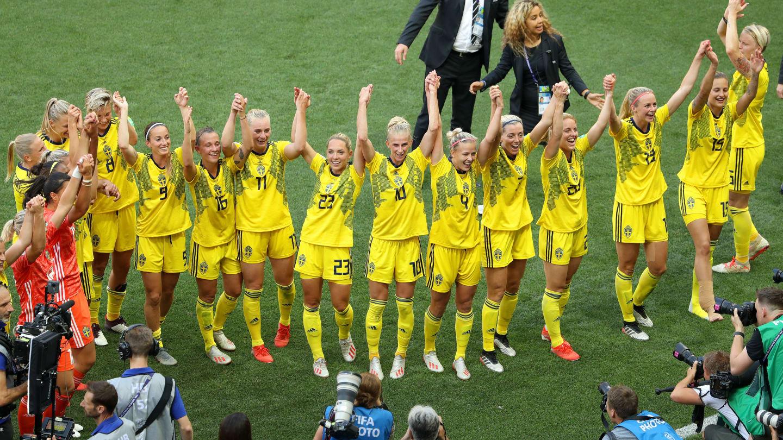 A equipe sueca garantiu a vitória neste sábado nos primeiros minutos da partida. Foto:  Getty Images