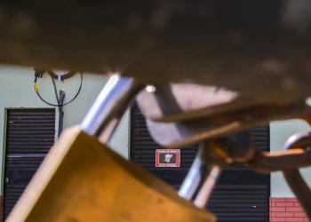 Houve uma tentativa de furto dos cabos de aterramento da Estação de Bombeamento de Água Tratada São Manoel Foto: Alex Rocha/PMPA