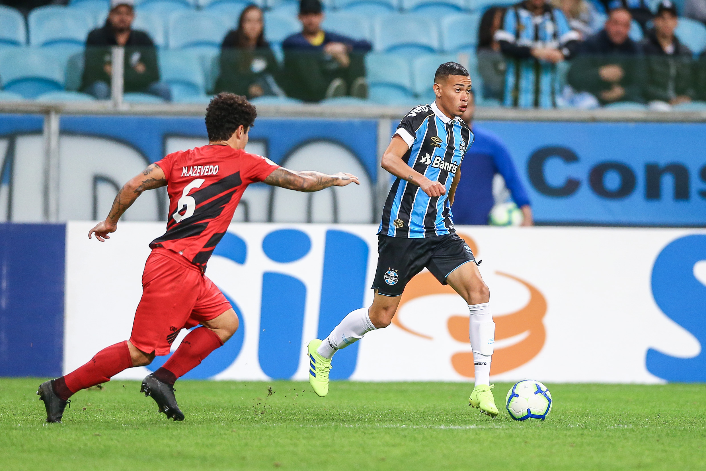 Na Arena do Grêmio, partida valida pela Campeonato Brasileiro 2019. Foto: Lucas Uebel/Grêmio