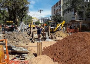 Porto Alegre, RS – 21/10/2019: Nova etapa de obras do Arroio Areia começa nesta quarta e prevê bloqueio de trânsito na Anita Garibaldi.  Foto: SMIM/PMPA
