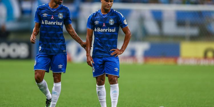 Lance da partida entre Grêmio e Bahia disputada na Arena. Foto: Lucas Uebel/Divulgação