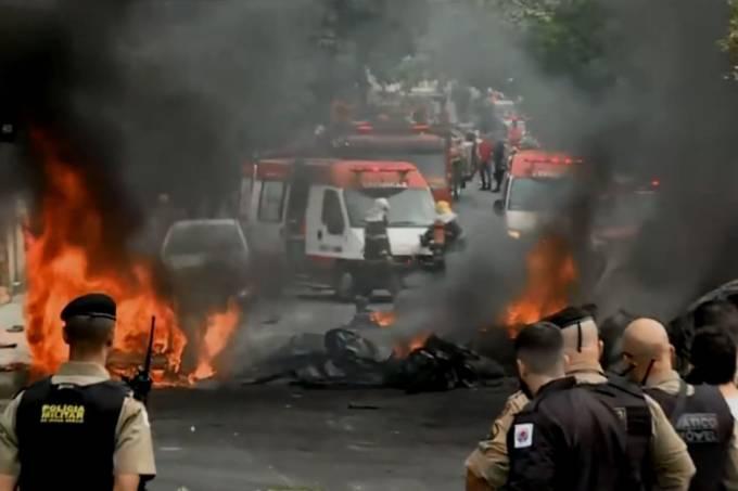 caiu em área residencial de Belo Horizonte. Foto: Rede Globo/Reprodução