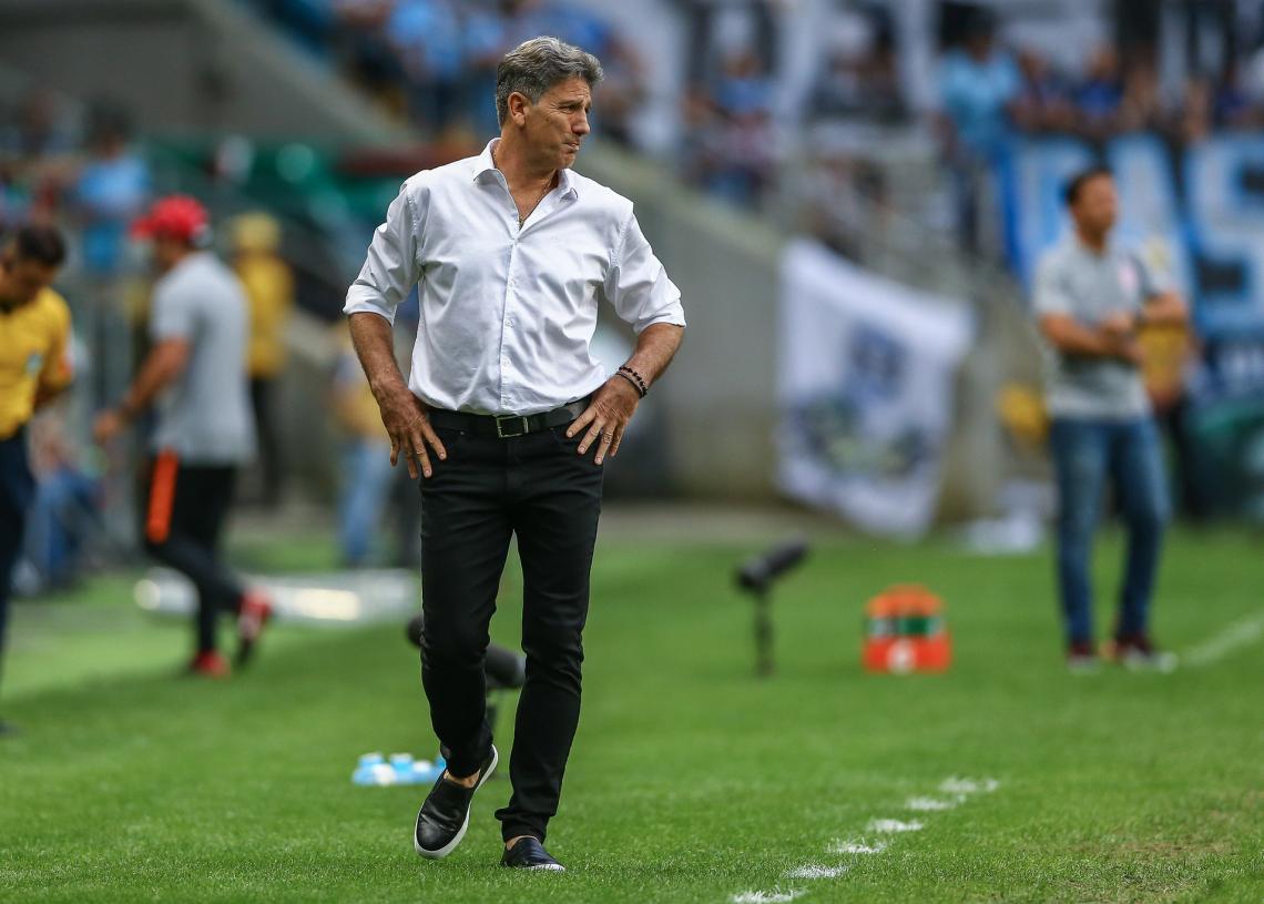 Renato Gaúcho durante o Gre-Nal 422. Foto: Lucas Uebel/Divulgação