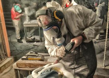 Oficina resultou em 24 trabalhos esculpidos em rochas. Foto: SMC/PMPA