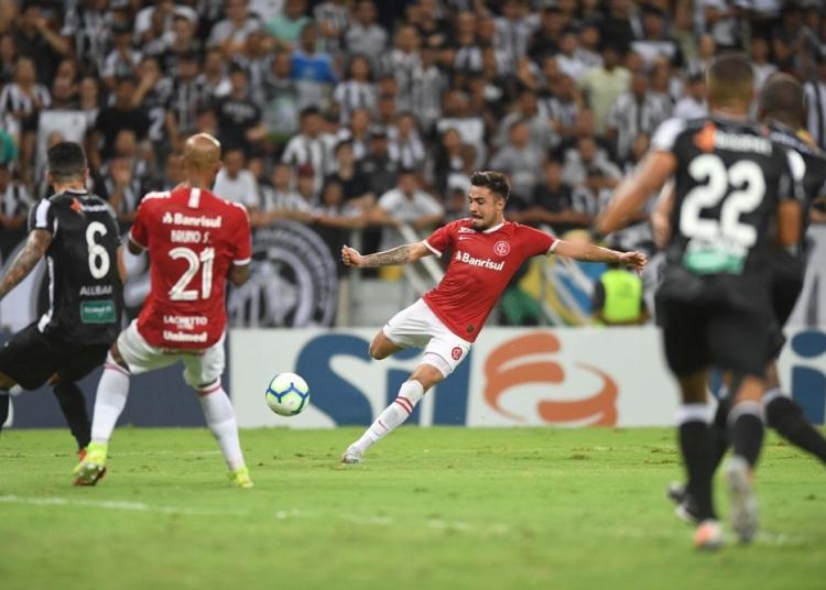 Inter perdeu para o Ceará por 2 a 0. Foto: Ricardo Duarte/Divulgação
