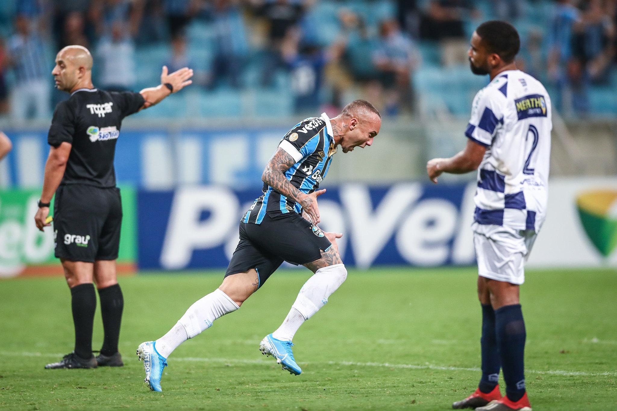 Everton foi destaque do Grêmio em várias partidas. Foto: Lucas Uebel/Grêmio (Arquivo)