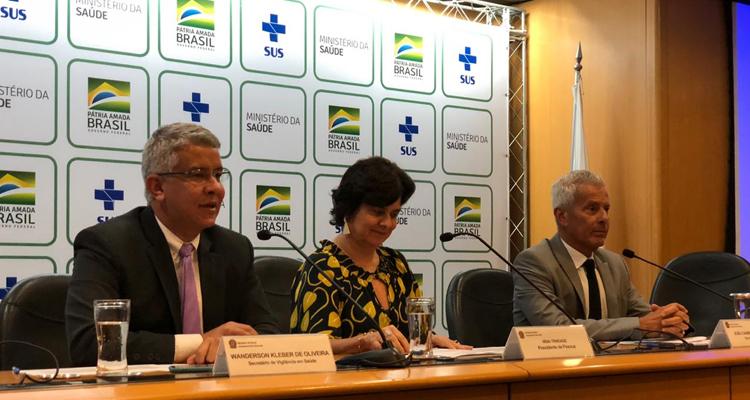 Ministério da Saúde fez o comunicado nesta quinta-feira (30). Foto: Carlos Américo / ASCOM MS