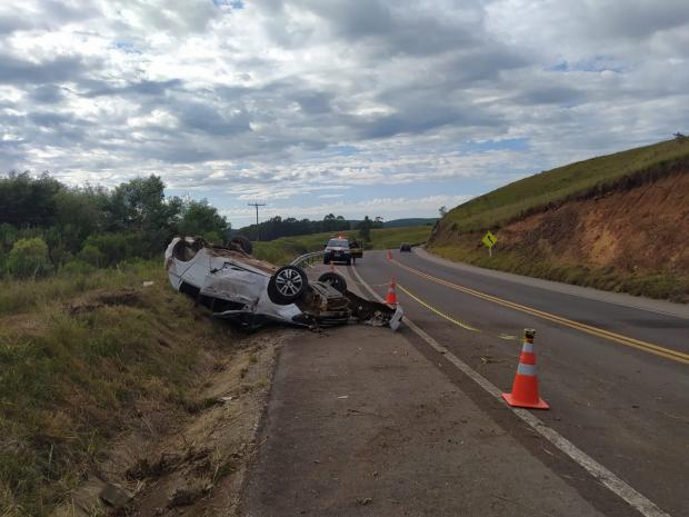 Acidente aconteceu na altura do Km 50 da BR-285 em Bom Jesus. Foto: Divulgação/PRF