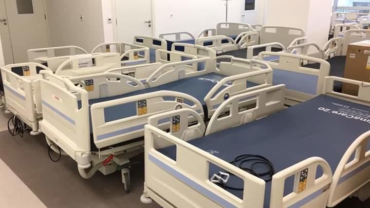 Leitos do Hospital de Clínicas para pacientes com coronavírus. Foto: Rafael Garcia Marques/Hospital de Clínicas de Porto Alegre