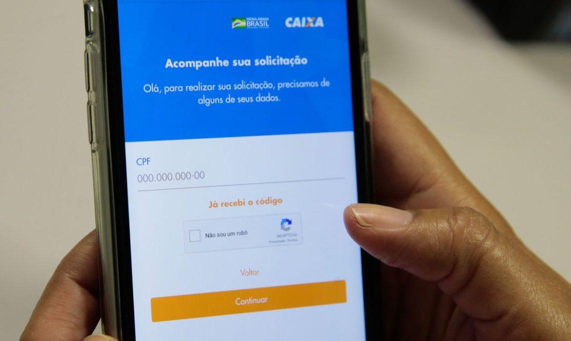 Lançamento do aplicativo Caixa Auxílio Emergencial. Foto: Marcello Casal Jr/ Agência Brasil