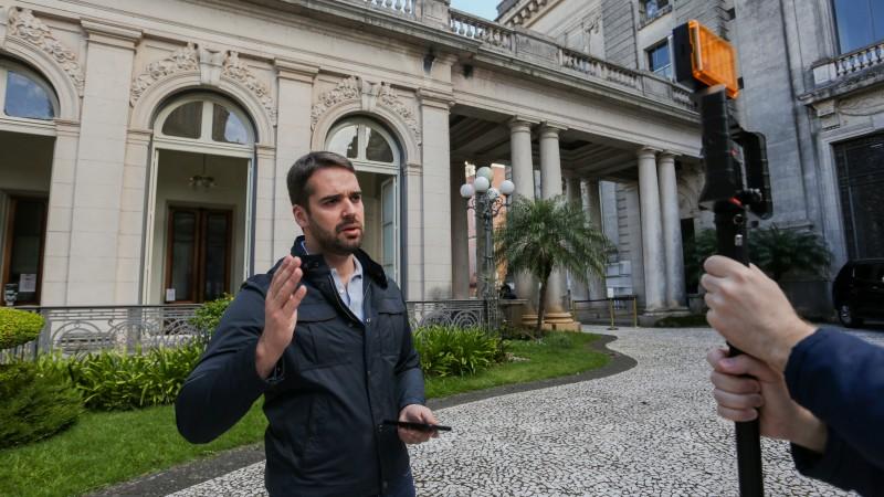 Governador do Rio Grande do Sul, Eduardo Leite. Foto: Felipe Dalla Valle/Palácio Piratini