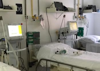 Unidade para pacientes com confirmação ou suspeita de Covid-19 no Hospital Bruno Born (HBB), de Lajeado. Foto: HBB/Divulgação